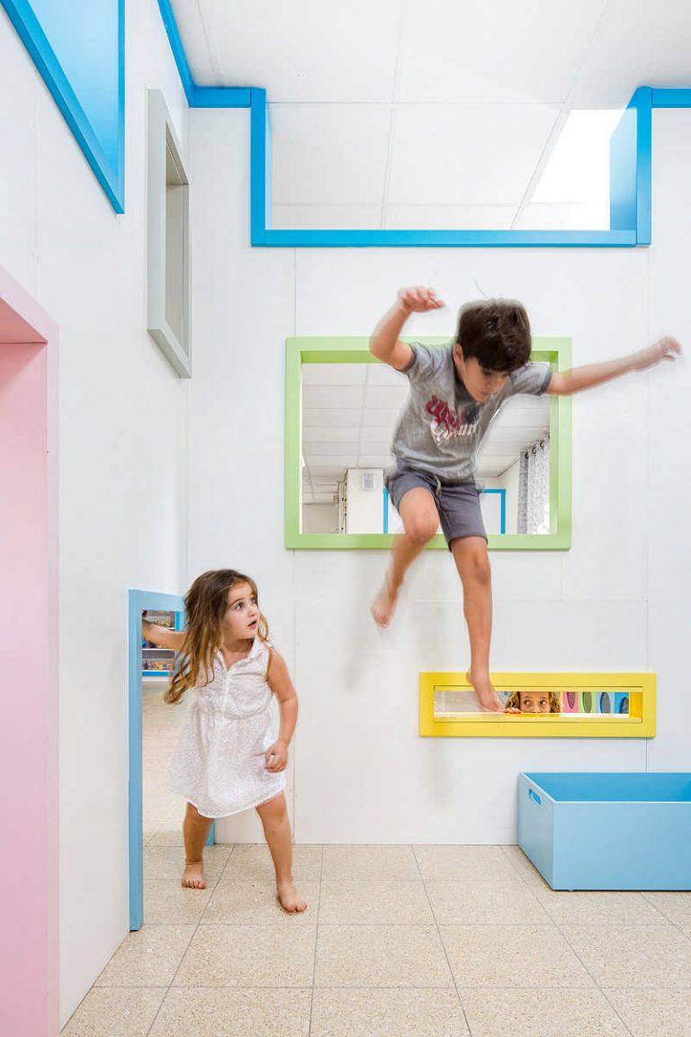 מרחב צבעוני ומגוון המעודד תנועתיות ומשחק