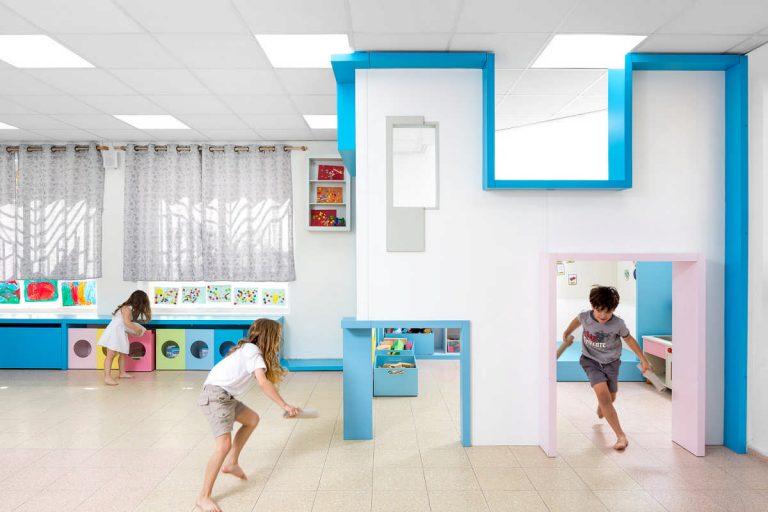 מרחב מזמין עם כניסות מותאמות לילדים ולצוות